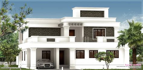 kerala home design flat roof elevation flat roof homes designs flat roof villa exterior in 2400