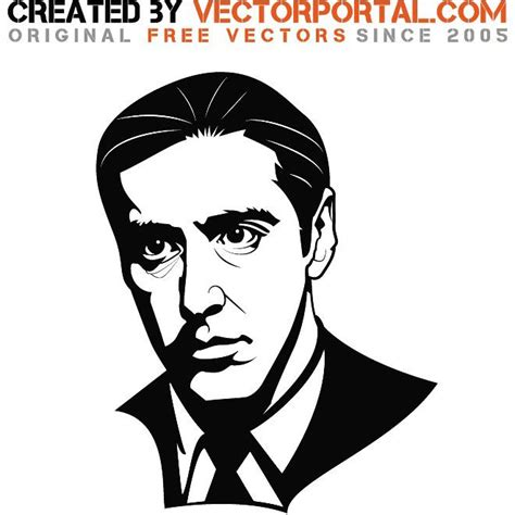 se filmer the godfather gratis al pacino vector portrait celebrity vector