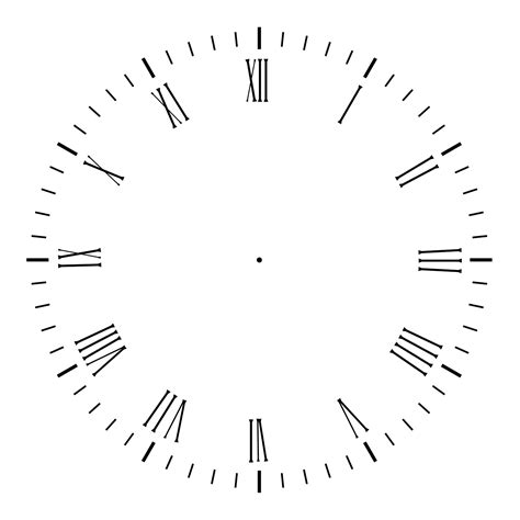 printable roman clock face blank clock template printable activity shelter