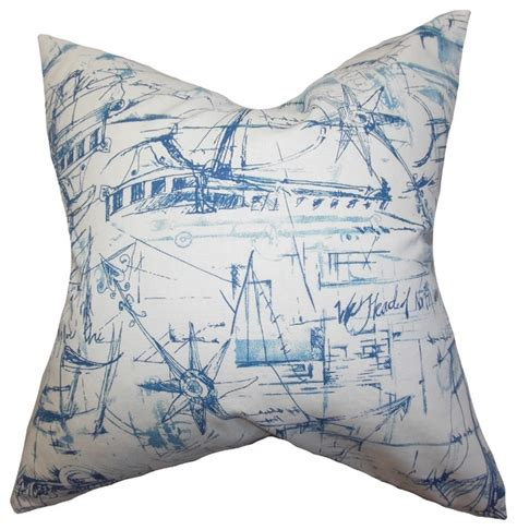 Coastal Pillow by Hobson Coastal Pillow Blue Style Decorative Pillows By The Pillow Collection Inc