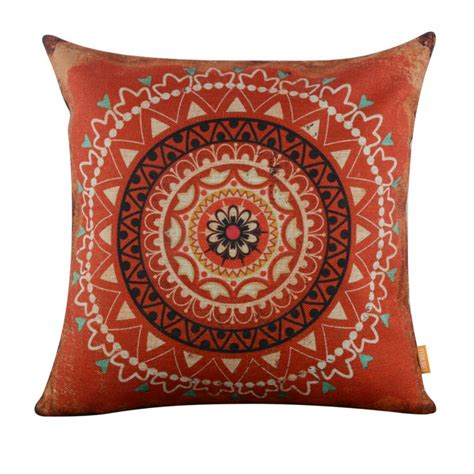 sewing pattern for 18 x 18 pillow linkwell 18x18 quot vintage red circle ethnic african pattern