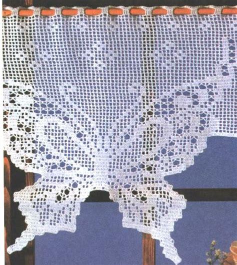 gardinen hakeln anleitung gardine schmetterling h 228 keln quot butterfly quot crochet curtain