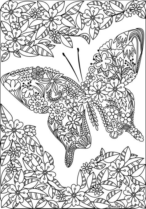 detailed coloring pages for adults detailed butterfly coloring pages for adults exles
