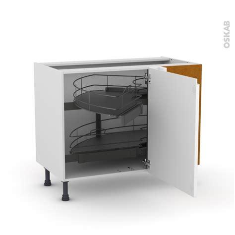 meuble de cuisine blanc brillant meuble de cuisine angle bas ipoma blanc brillant demi lune
