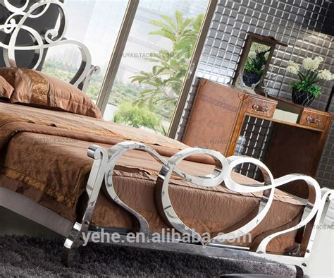 stainless steel venus bed king size bed royal