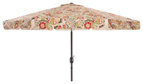 Patterned Patio Umbrellas Pillow Multicolored Floral 9 Foot Patio Umbrella