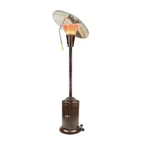Propane Gas Patio Heater Mirage 38 200 Btu Bronze Heat Focusing Propane Gas Patio Heater Hdmirage10 The Home Depot