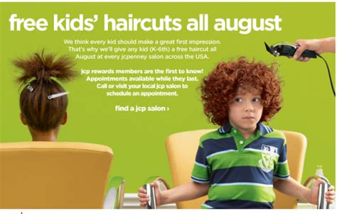 haircut deals for back to school free haircut for kids at jcpenney thrifty nw mom