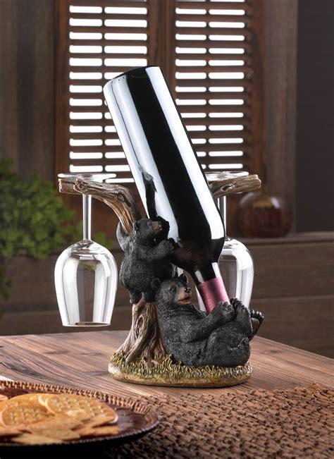 black bear wall hooks wholesale at koehler home decor black bear wine bottle holder wholesale at koehler home decor
