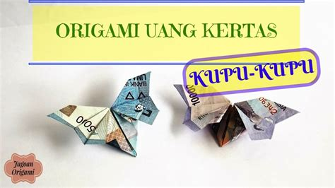 tutorial origami mahar cara membuat kerajinan tangan dari uang kertas versi on
