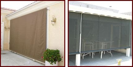 sunscreen awnings indoor outdoor drop rolls sunscreens riverside san