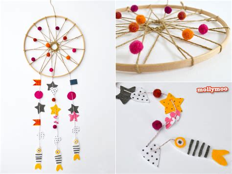 How To Make A Paper Dreamcatcher - mollymoocrafts how to make a catcher
