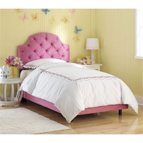pink tufted headboard twin amelie tufted pink upholstered bed gold leaf images