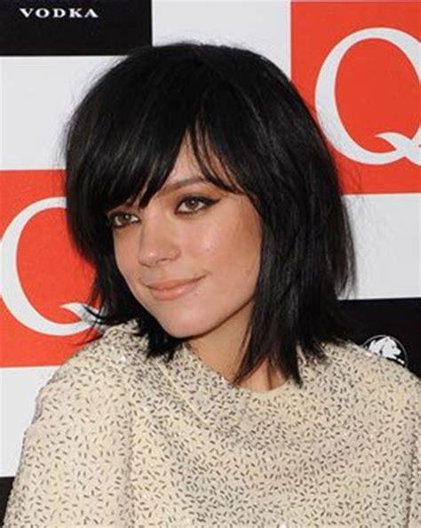 brunette hairstyles wiyh swept away bangs hair styles with bangs for short hair short hairstyles