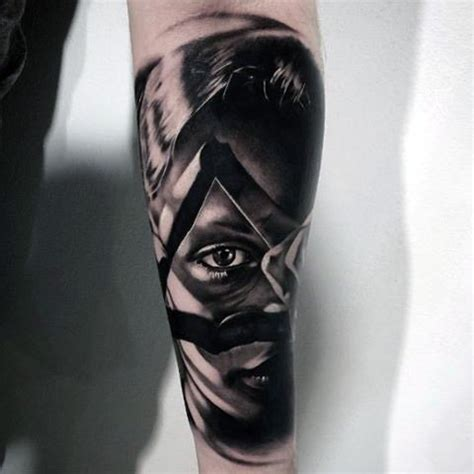 batman tattoo shading top 100 eye tattoo designs for men a complex look closer