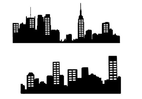 City Outline Vector by Free City Skyline Silhouette Vector City Silhouette Graphics Silhouette Clip