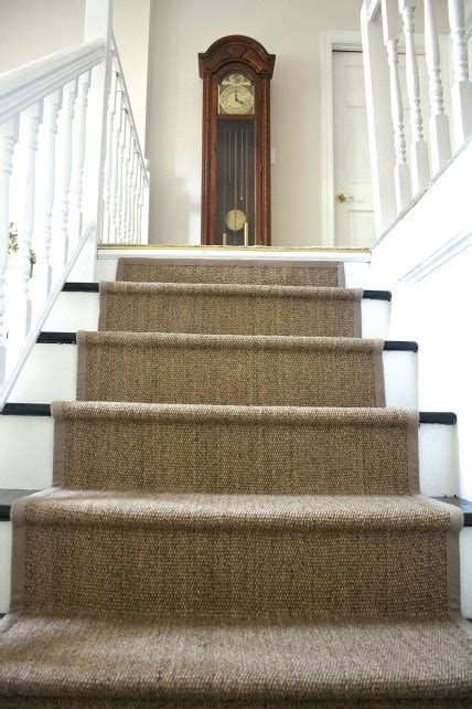 carpet stair treads ikea diy ikea jute rug stair runner what emily does