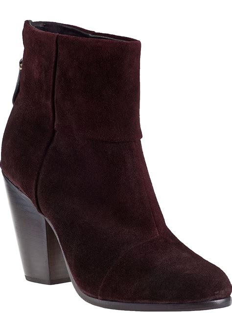 burgundy suede boots rag bone classic newbury ankle boot burgundy suede in