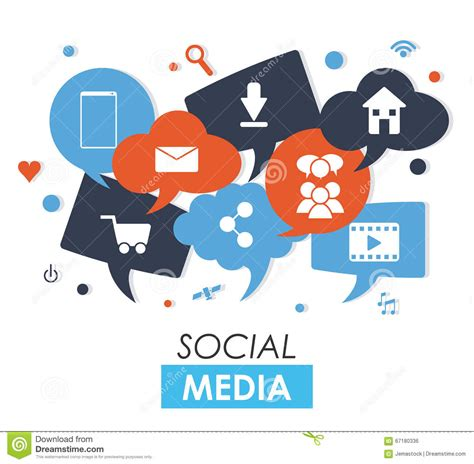 design graphics for social media social media design stock vector image 67180336