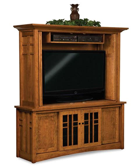 Kascade Media Tv Cabinet With Bi Fold Doors Amish Direct Tv Media Cabinets With Doors