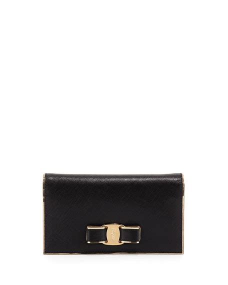 Bnib Salvatore Ferragamo Miss Vara Wallet salvatore ferragamo miss vara bow wallet on a chain nero