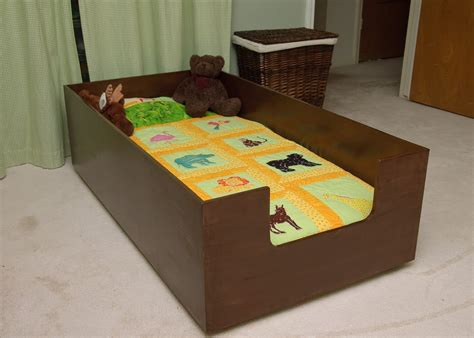 toddler bed for boy diy toddler bed so he can t roll out aiden s room