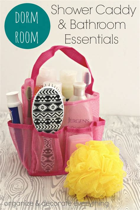 Student Bathroom Essentials Room Shower Caddy And Bathroom Essentials Organize