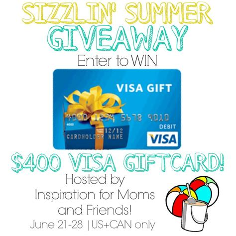 What Name Do I Use For Visa Gift Card - first day of summer 400 giveaway redhead can decorate