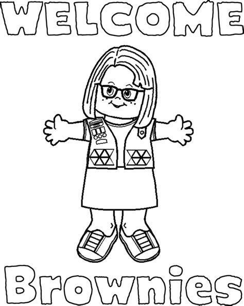 Coloring Pages Free Printable Girl Scout Coloring Pages Scout Coloring Pages For Daisies Printable