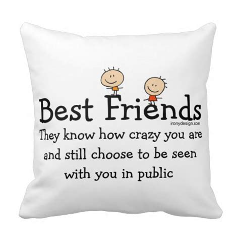The Pillow Friend best friends throw pillows zazzle