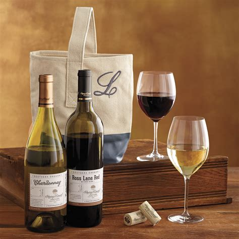 personalized wine gift tote harry david