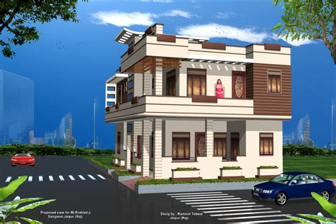 New 3d Home Design Exterior Home Design Photos In India Thraam Com