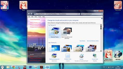 theme windows 7 kyoukai no kanata theme win 7 kyoukai no kanata by bashkara