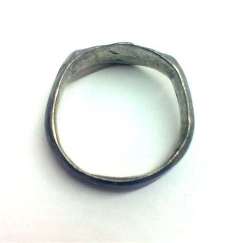 Ring Gesper Gr 20 Mm Atg early silver ring with runes 4 13 gr 18 mm catawiki