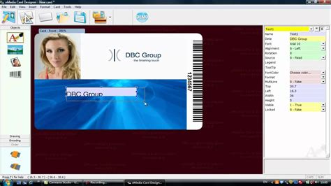 identity card software free emedia software for id card design using simple fixed text
