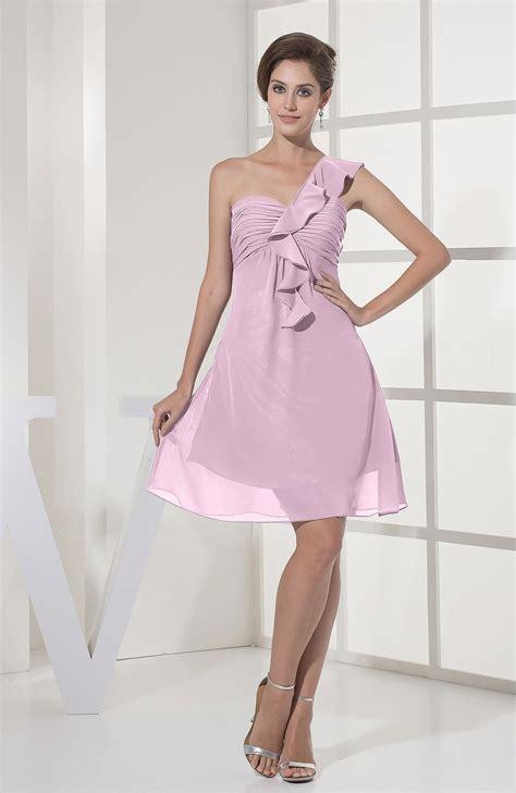 casual wedding dress pink baby pink bridesmaid dress casual a line sleeveless