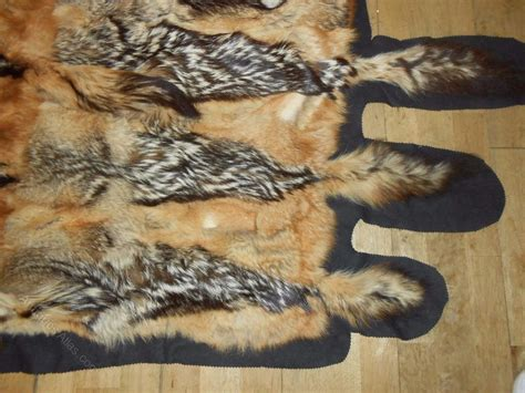 Large Fur Rugs by Antiques Atlas Large Fur Throw Rug Coyote Pelt Bedspread