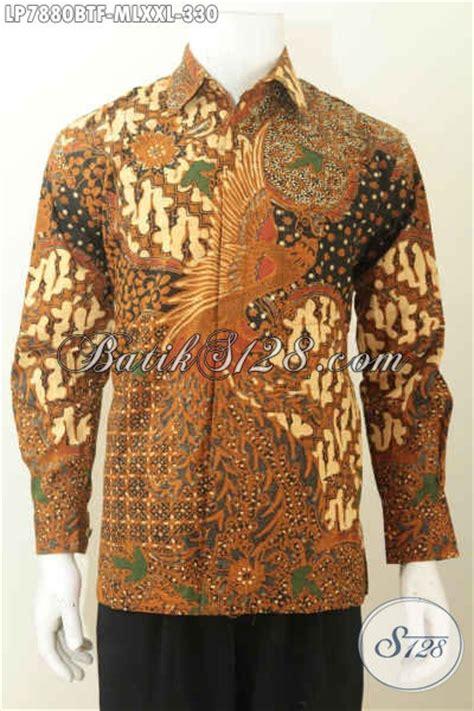 Kemeja Batik Klasik Lengan Panjang baju kemeja batik elegan berkelas buatan model lengan panjang motif klasik daleman