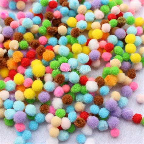 Handmade Pom Pom Decorations - set of 2000pcs 6 8mm pom pom pompon yarn pom pom