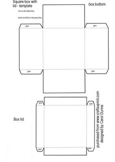 printable box template with lid square box template cup20559 173 craftsuprint