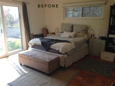 before and after bedroom makeovers before and after bedroom makeover with moss and coral accents freshome