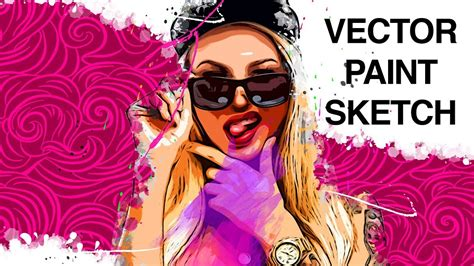 tutorial vector paint photo to vector paint sketch photoshop tutorial youtube