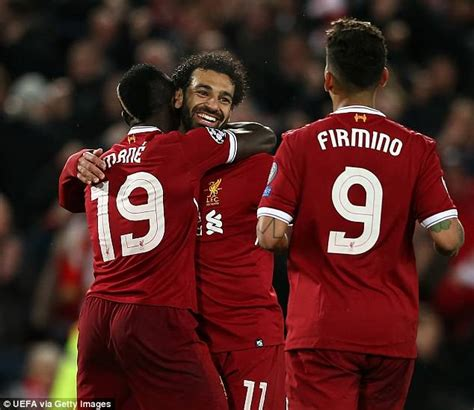 Tshirt Liverpool Mane And Salah Sepaket why liverpool s mo salah sadio mane and roberto firmino are so effective daily mail