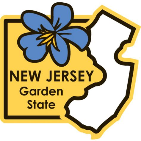Garden State New Jersey by New Jersey State Ment Plate