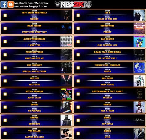 soundtrack list nba 2k17 jukebox by retroswald13 released medevenx