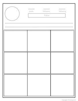Instagram Template Editable Version Included By Srta Spanish Tpt Instagram Card Template