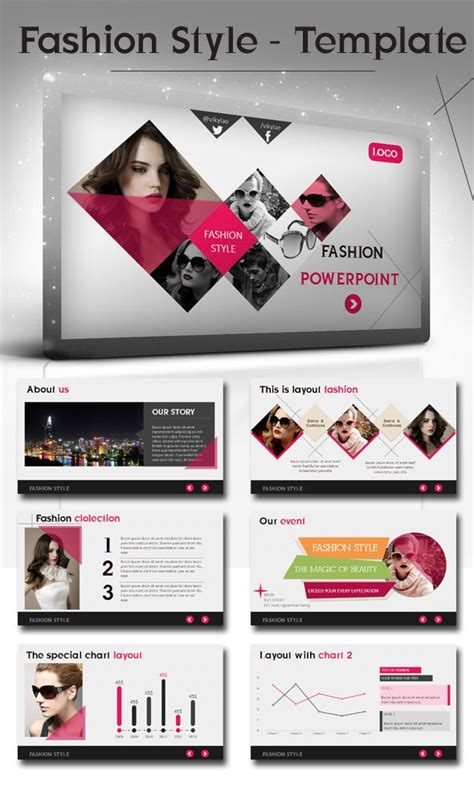 fashion powerpoint template fashion style powerpoint presentation template by bui