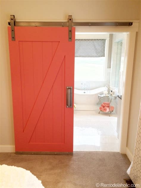 behind bedroom door barn door to bathroom in master bedroom i d paint it pale