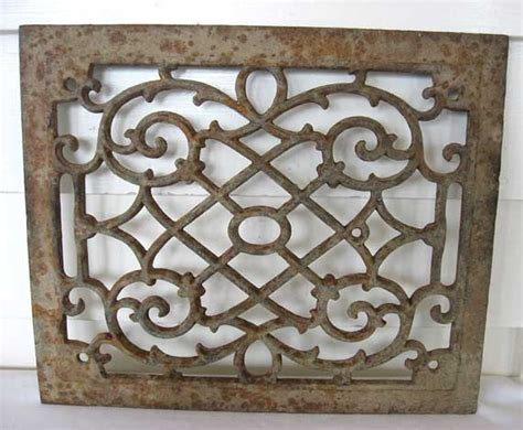 Decorative Grates by Decorative Open Work Metal Grate With Finish Patina