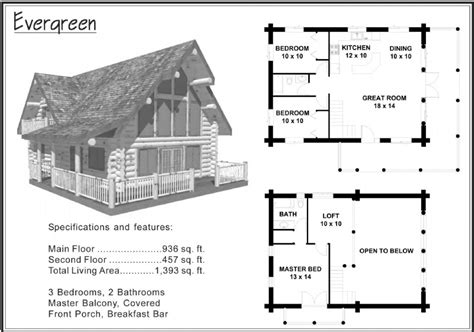 1 500 Sq Ft And Under 171 Alpine Blue Log Homes Log Cabin Floor Plans 1500 Sq Ft